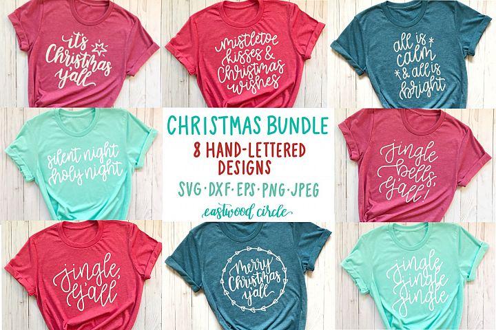 Christmas SVG Bundle - Hand Lettered SVG Files for Crafters