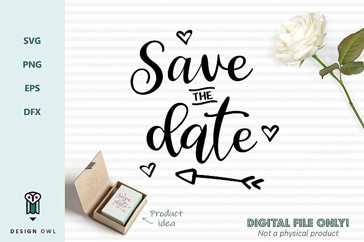 Save the date - SVG file