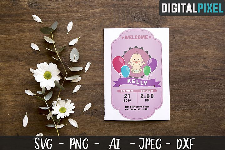Baby Shower SVG PNG JPEG DXF Crafters SVG - Baby Birth