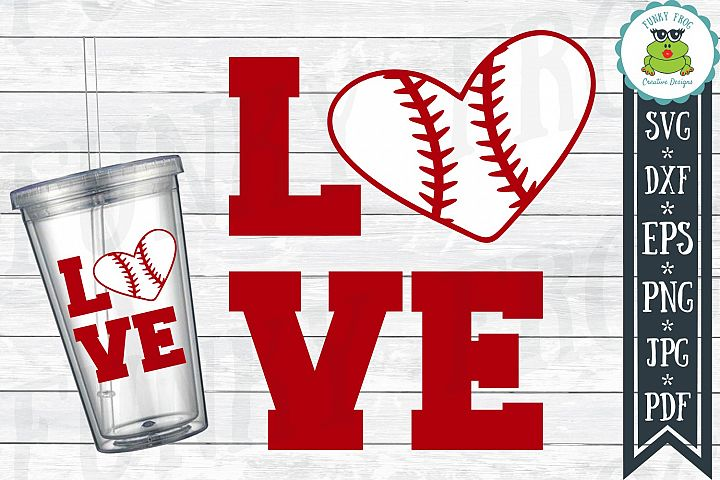 Baseball Love SVG Cut File for Crafters