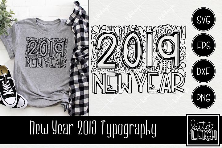 New Year 2019 Typography