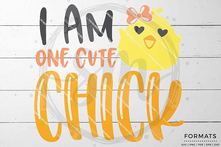 One Cute Chick Easter svg Files for Cricut