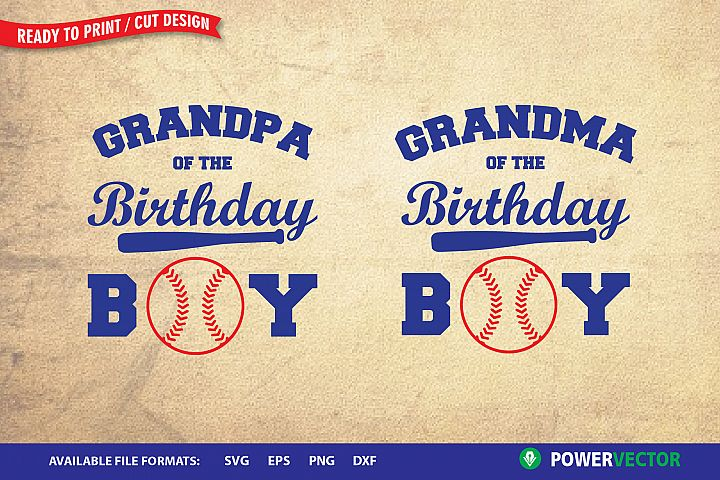 Grandma, Grandpa of the Birthday Boy| Baseball Theme Design