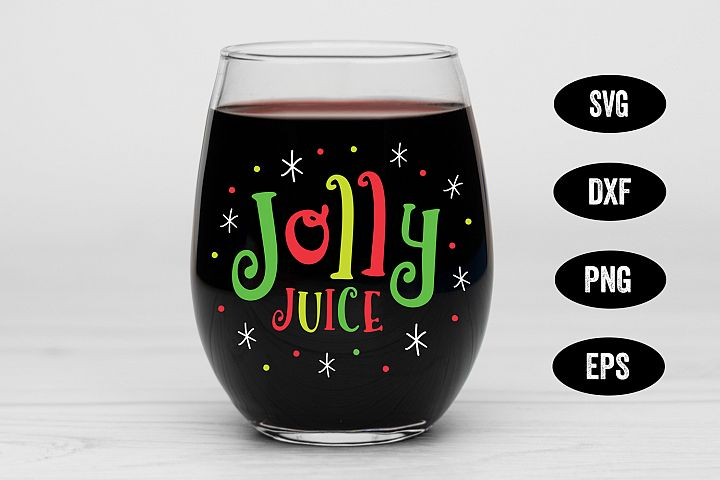 Holiday SVG, Jolly Juice, SVG Cut file, Christmas SVG