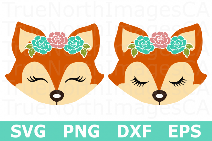 Fox Faces - An Animal SVG Cut File