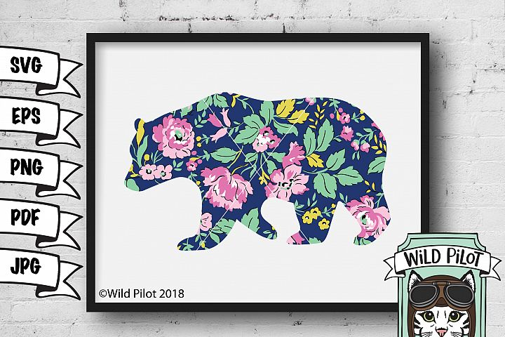 Bear Clip Art, Bear Silhouette SVG, Bear SVG, Mama Bear SVG, Bear Printable Clip art, Bear clipart, Bear Vector, personal and commercial use