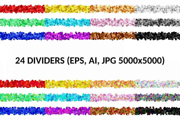 24 Tileable Page Dividers AI, EPS, JPG 5000x5000