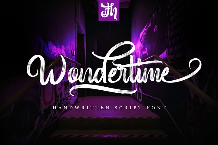 Wondertime - Handwritting Script Font