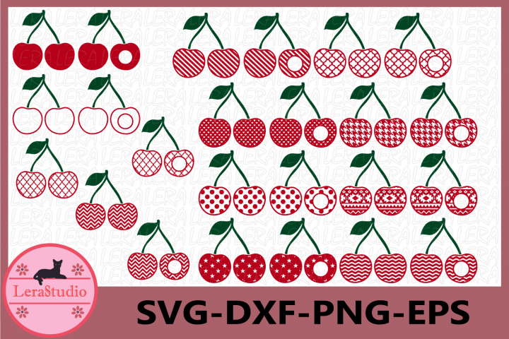 Cherry SVG, Cherries Svg, Summer SVG, Cherry Monogram Svg