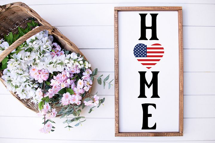Welcome Sign SVG - USA Flag SVG - Home SVG, Front Porch Sign