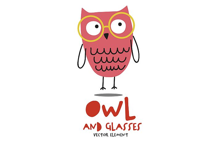 Owl and Glasses 2