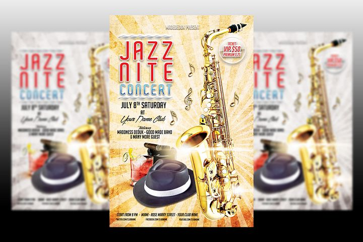 Jazz Nite Concert Flyer