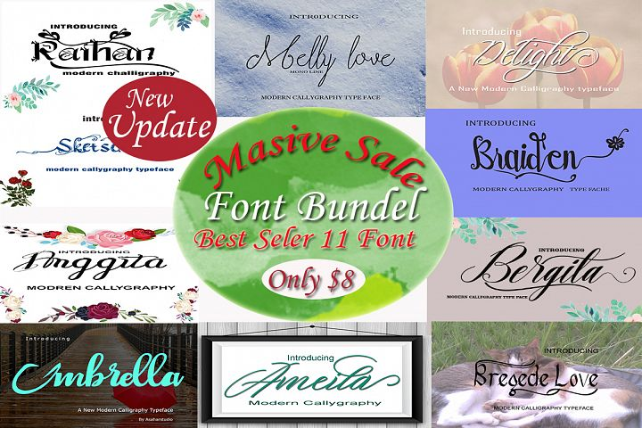 MASSIVE SALE FONT BUNDLES NEW UPDATE