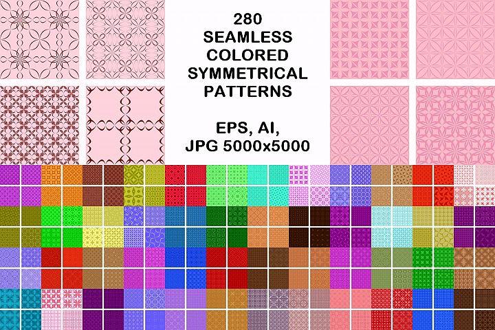 280 seamless symmetrical pattern backgrounds
