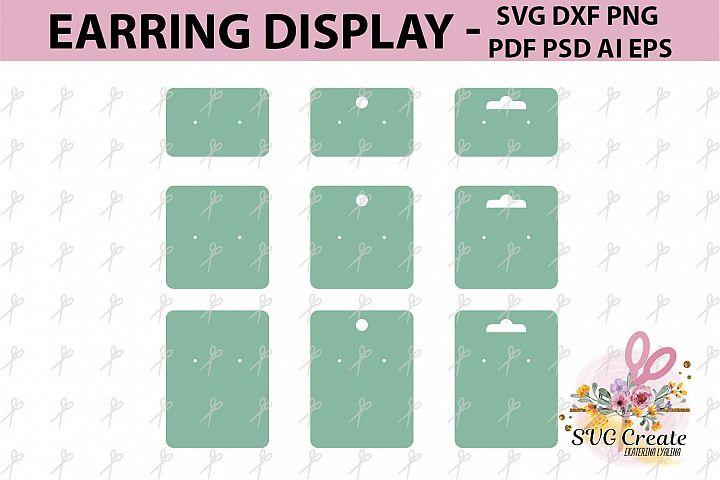 Earring cards svg, earring display svg, earring display pdf