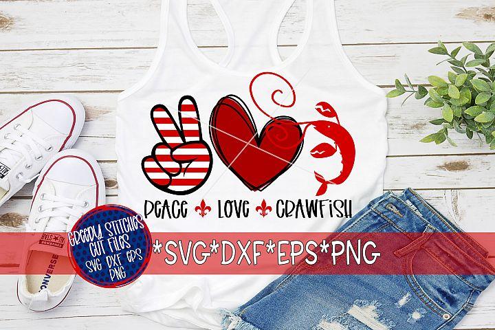 Mardi Gras | Peace Love Crawfish SVG DXF EPS PNG