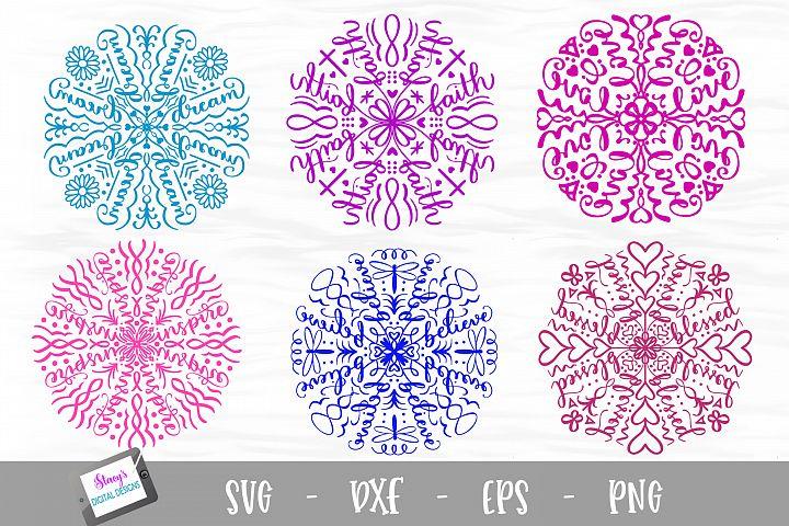Mandala SVG Bundle - 6 Inspirational mandala designs