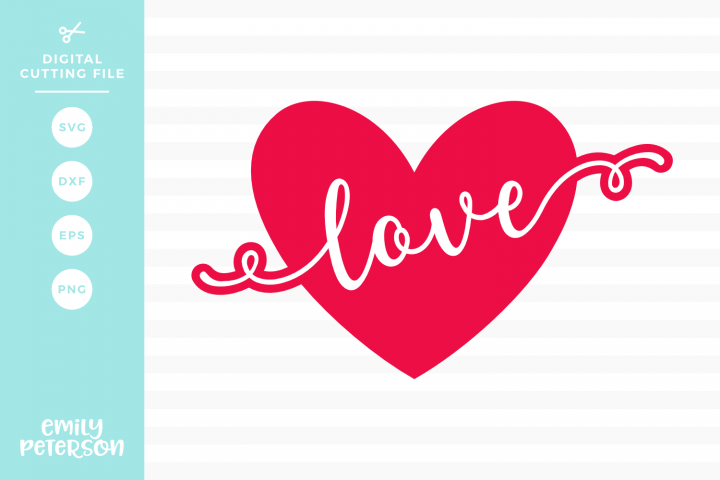 Love Heart SVG DXF EPS PNG
