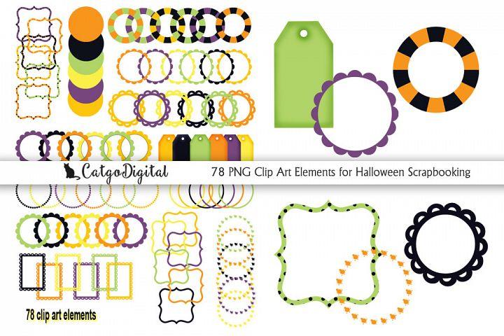 Halloween Clip Art PNG Scrapbooking Individual elements