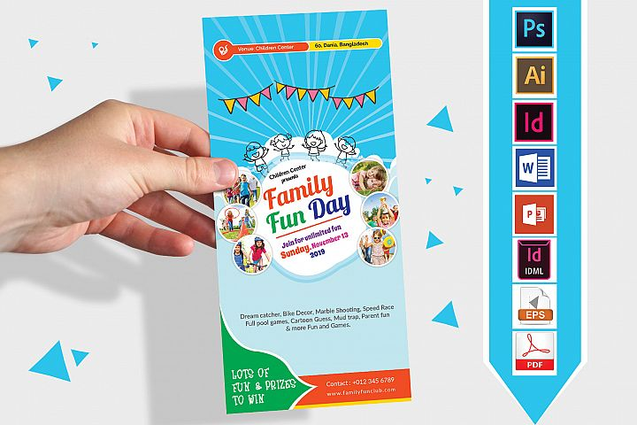 Rack Card | Family Fun Day DL Flyer Vol-01