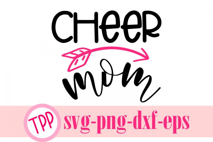Cheer MOM svg, cheer svg, cheerleader design