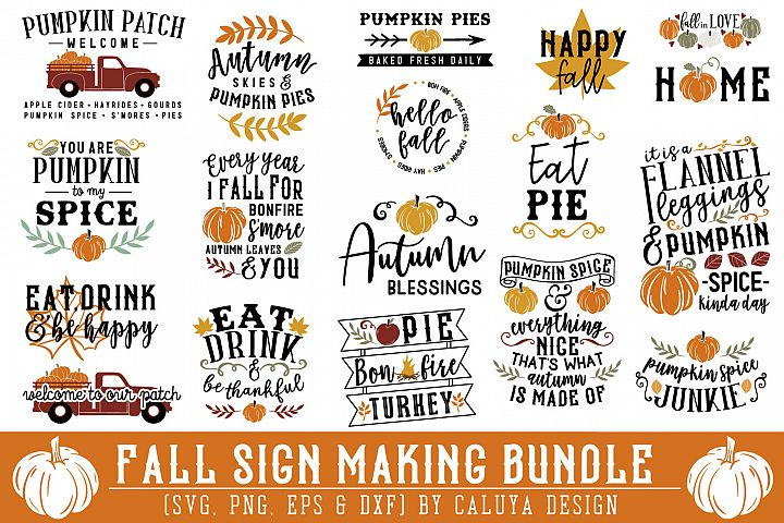 BIG! Fall Sign Making Bundle