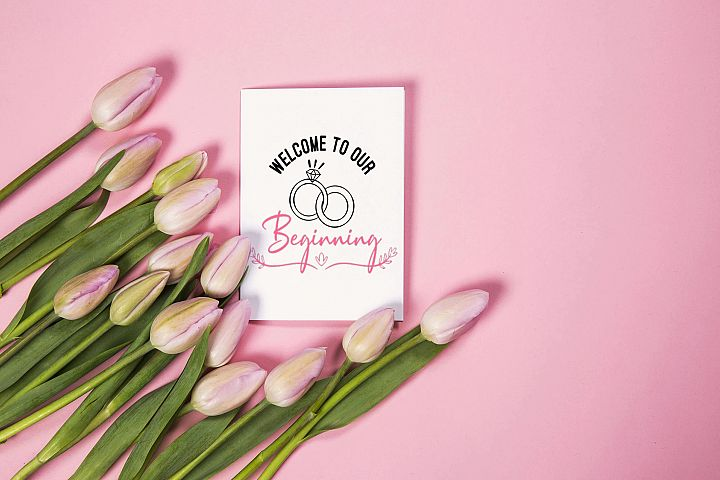 Welcome to our beginning | SVG cut files | Wedding SVG |