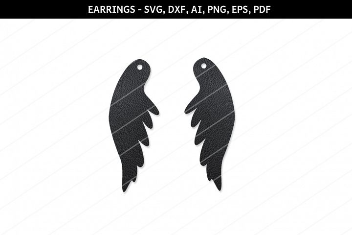 Angel wings earrings svg,SVG earring,Cricut files,feather