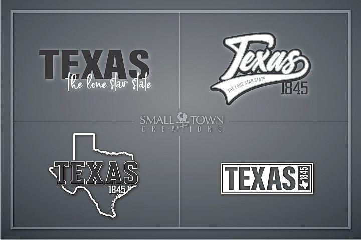 Texas, The Lone Star State slogan, logo, PRINT, CUT & DESIGN