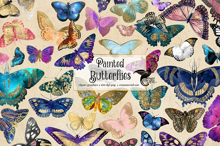 Painted Butterfly Clipart example