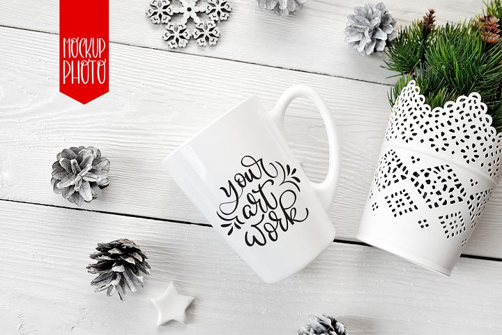 Mug mockup for lettering, calligraphy and quotes illustration