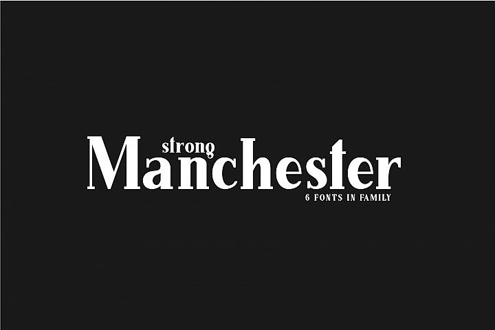 Manchester. Serif family.