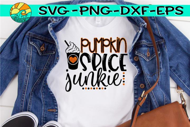 Pumpkin Spice Junkie - Glitter - SVG PNG EPS DXF