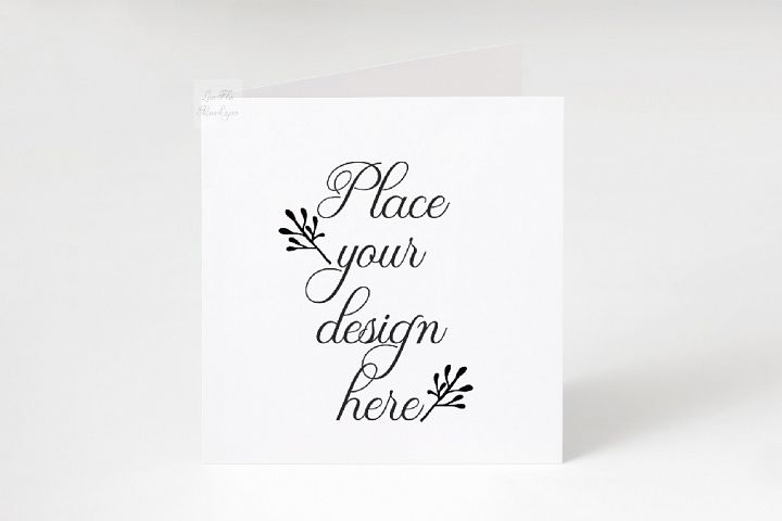 Square Greeting Card Mockup psd ivitation stationery mock up