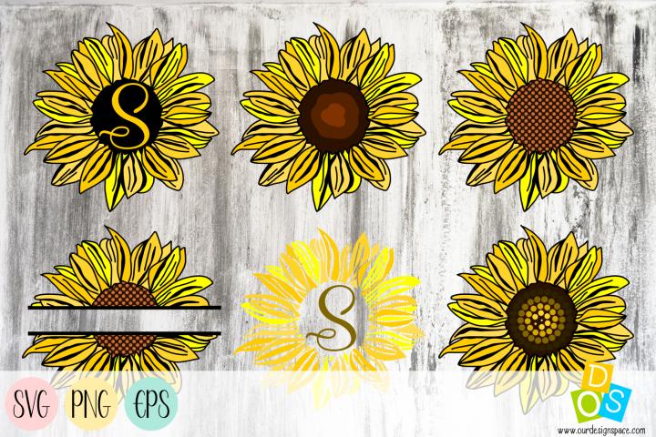 Sunflower SVG, PNG and EPS Bundle