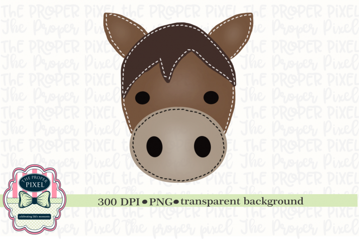 Watercolor Stitched Horse Sublimation Printable