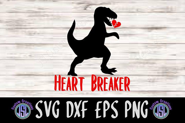 Dinosaur Heart Breaker | SVG DXF EPS PNG Digital Cut File