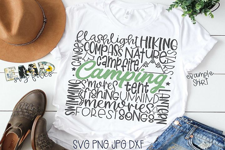 Camping Subway Art Svg | Outdoors Svg