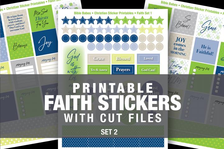 Christian Faith Sticker set 2 with SVG Cut Files