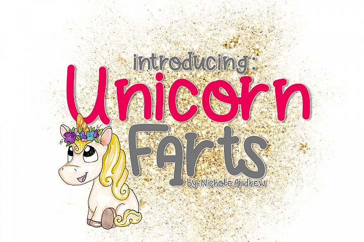 Unicorn Farts Handwritten Font