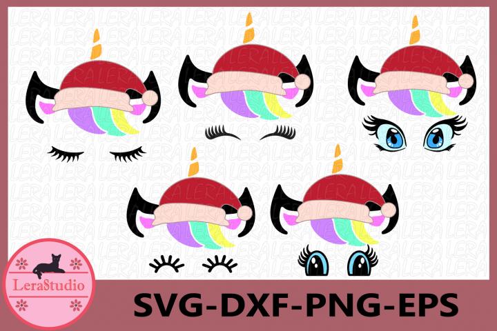 Unicorn svg, Unicorn Christmas SVG, Unicorn with eyelashes