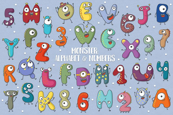 Monster Alphabet & Numbers
