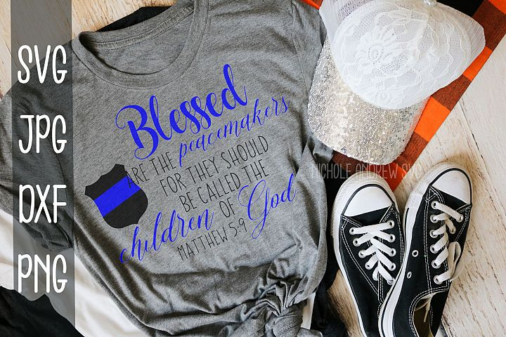 Blessed are the peacemakers, Police, Back the blue, SVG