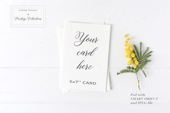 Floral 5x7 Card Mockup - crd229