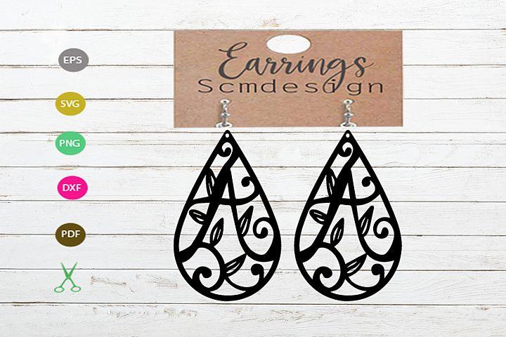 letter A Earrings SVG,earrings template earrings cut file,