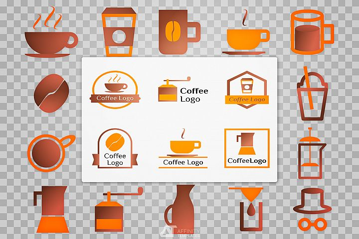 Coffee Shop Logo self design set