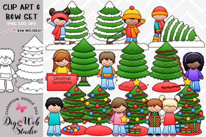 Clip Art / Illustrations - Trim A Tree Bundle