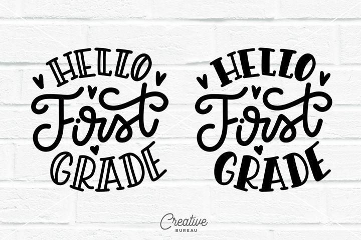 Hello First Grade SVG, First Grade SVG, School SVG