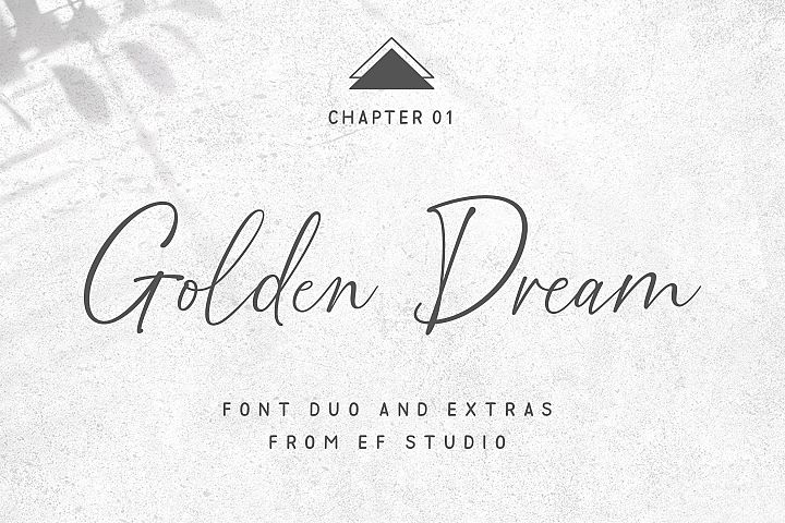Golden Dream Font Duo & Extras