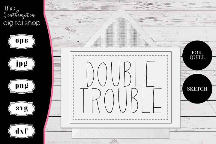Double Trouble Baby Twins Foil Quil Card Design